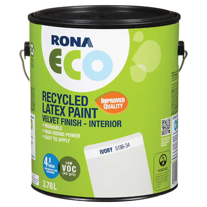 Recycled Latex Paint - Velvet Finish - Ivory - 3.78 L