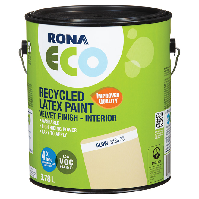 Recycled Latex Paint - Velvet Finish - Glow - 3.78 L