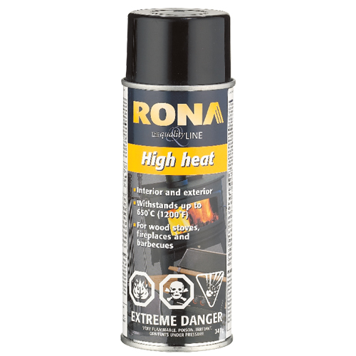 High Heat Spray Paint 340g - Glossy Black