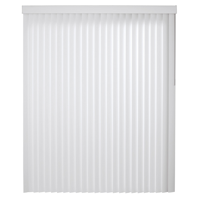 "Vertical PVC Blind - White - 66"" x 84"""