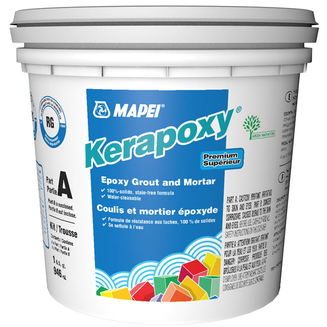 """Kerapoxy"" Stain-Free Grout and Mortar 945ml - Grey"