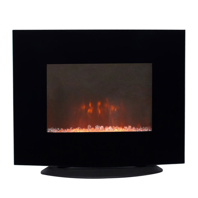 Wall Mount Electric Fireplace 750 W 1500 W 26 Quot Black