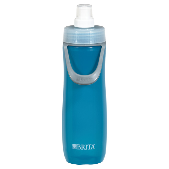 Water Bottle for Sports with Filter - 590 ml - Blue
