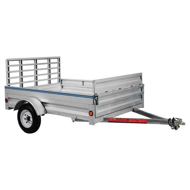 Galvanized Steel Expandable Trailer - 5' x 8'