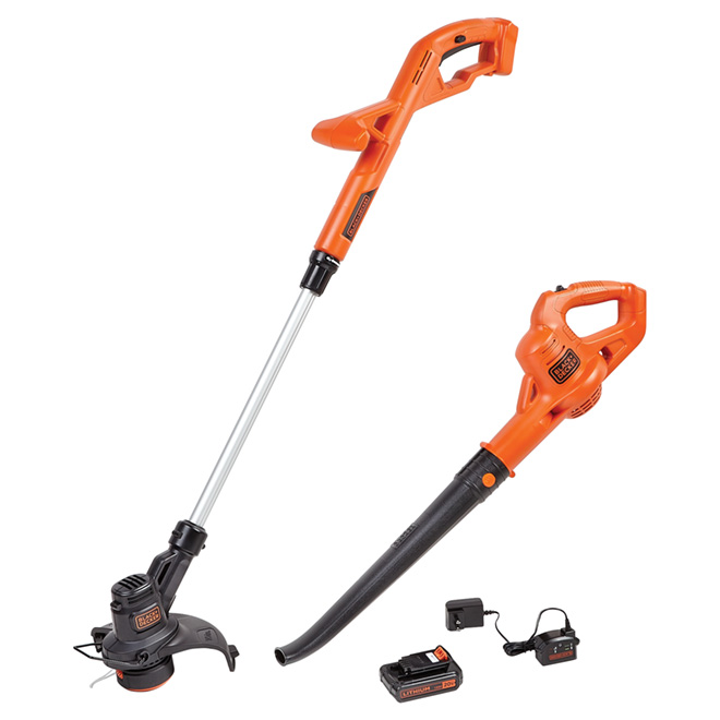 Cordless String Trimmer and Blower - 20V - 2 Pieces