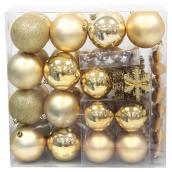 Assorted Tree Ornaments - Gold - 100-Piece Set