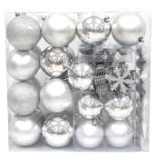 Assorted Tree Ornaments - Silver - 100-Piece Set