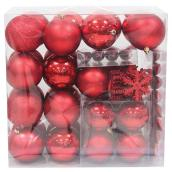 Christmas balls and Ornaments - Red - 100-Piece Set