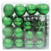Christmas Balls and Ornaments - Green - 100-Piece Set