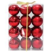 Christmas Ball - Red - 24-Piece Set