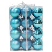 Christmas Ball - Turquoise - 24-Piece Set