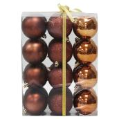 Christmas Balls - Copper - 24-Piece Set