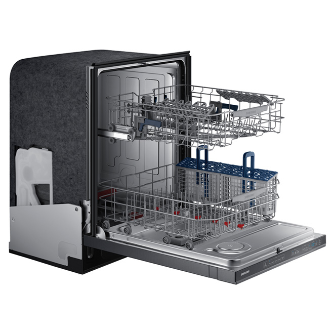 "24"" Built-in Steel Tub Dishwasher - Black Stainless"