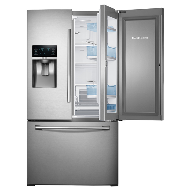 "French Door Refrigerator - 33"" - 27.8 cu. ft. - Steel"