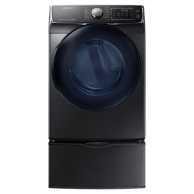 Electric Dryer with MultiSteam(TM)™ - 7.5 cu.ft.-Black Steel