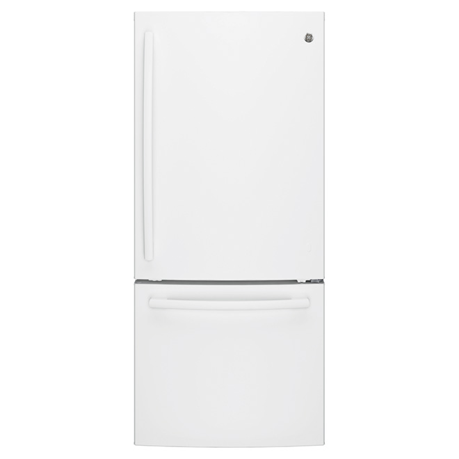 "Bottom-Freezer Refrigerator - 30"" - 20.9 cu. ft. - White"