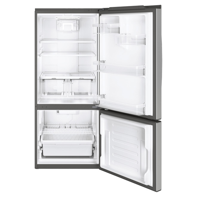 "Bottom-Freezer Refrigerator - 30"" - 20.9 cu. ft. - Steel"
