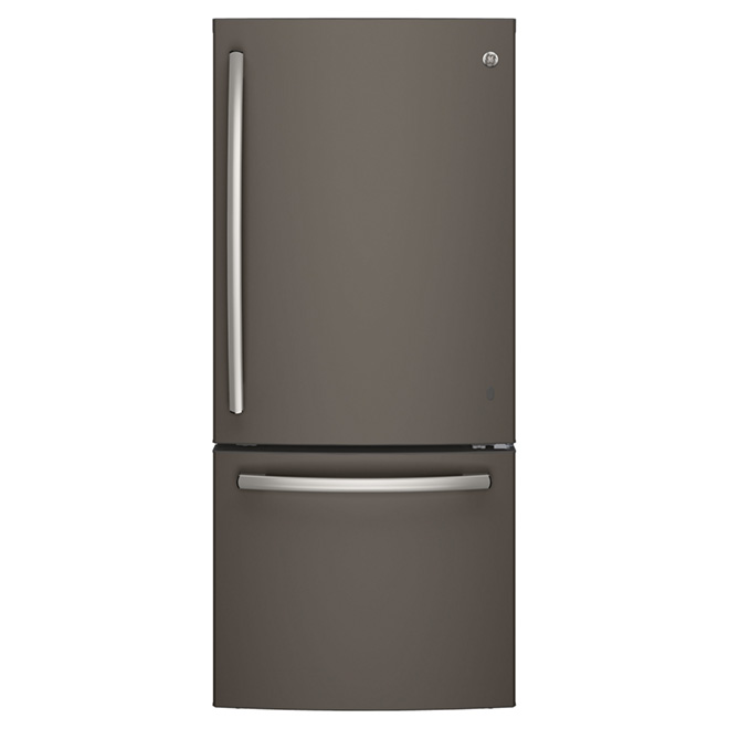 "Bottom-Freezer Refrigerator - 30"" - 20.9 cu. ft. - Slate"