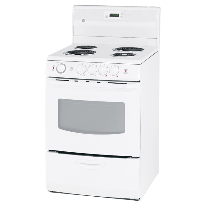 "Freestanding Electric Range - 24"" - 3 cu. ft. - White"