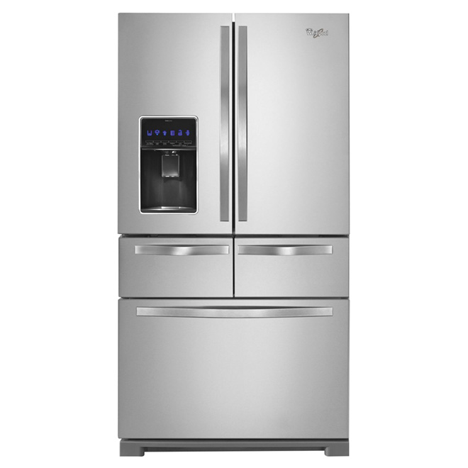 "French Door Refrigerator - 36"" - 26 cu. ft. - Steel"