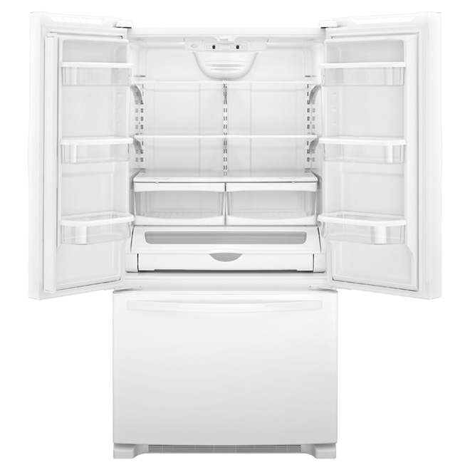 "French Door Refrigerator - 33"" - 22 cu. ft. - White"