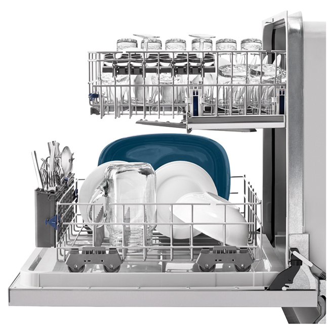 "24"" Built-in Dishwasher with Silverware Spray - Stainless"