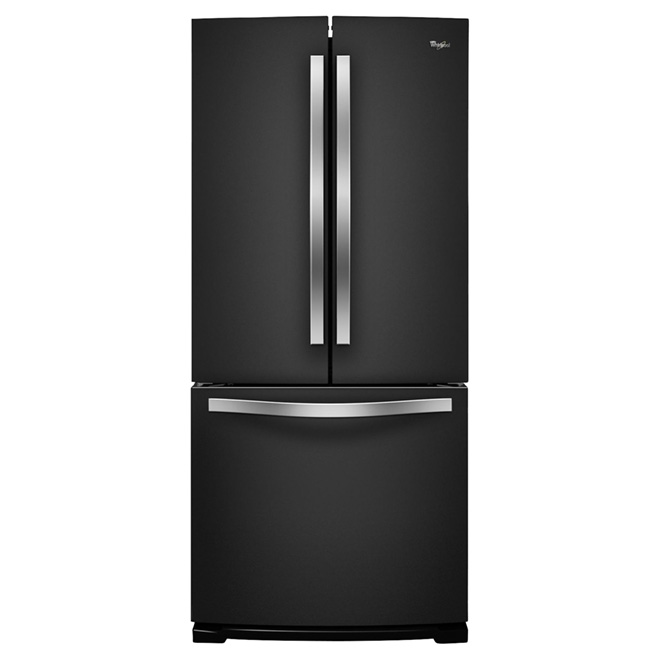 "French Door Refrigerator - 30"" - 19.7 cu. ft. - Black"