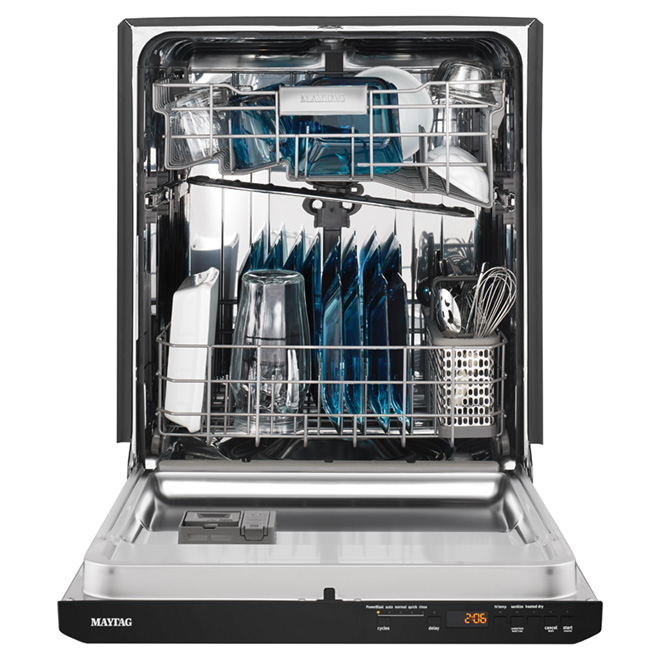 "24"" Built-in Quiet Dishwasher - Black"