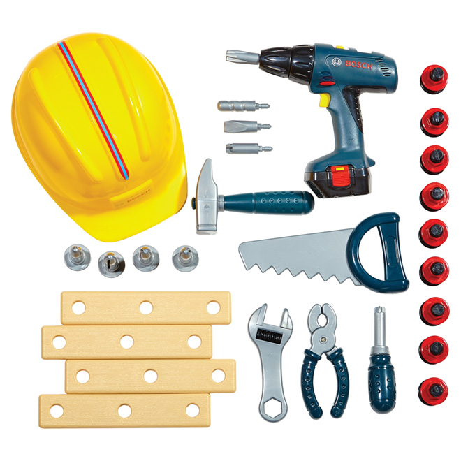 Tool Set for Kids with Construction Helmet