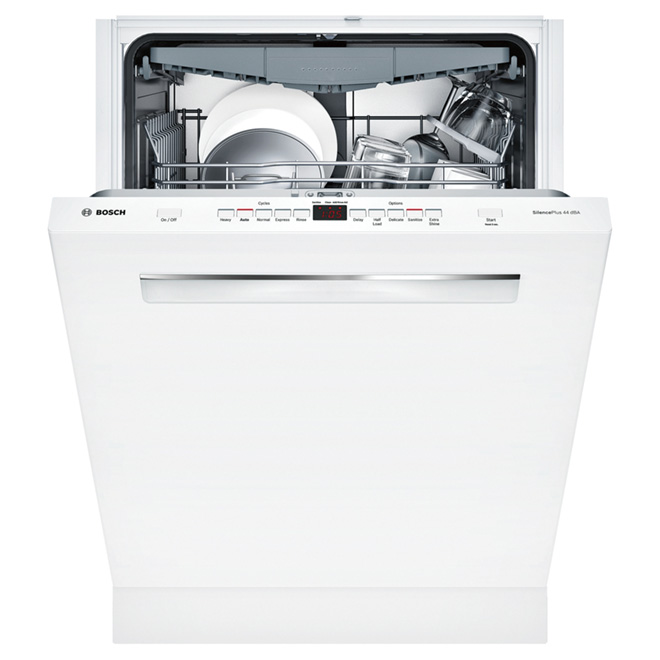 "24"" Flush Handle Dishwasher - White"