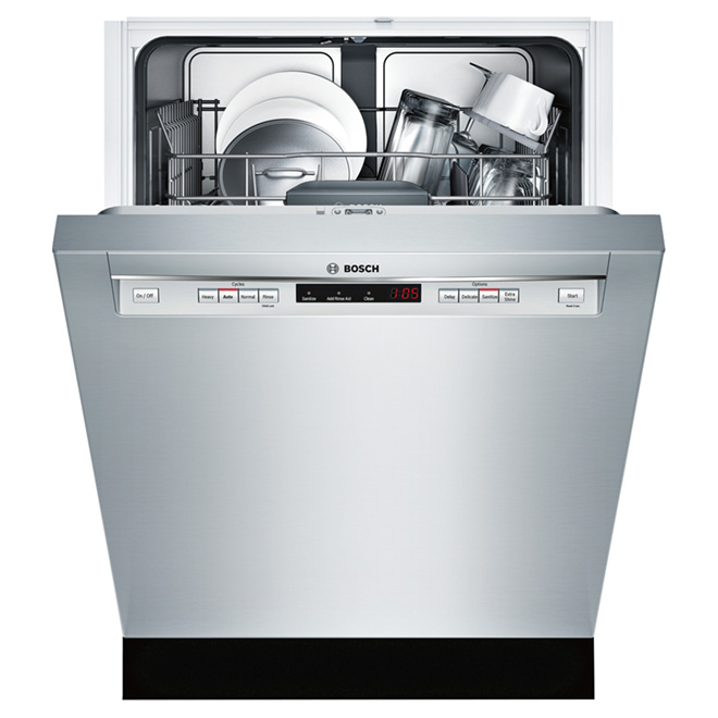"24"" Recessed Handle Dishwasher - 300 Series - Stainless Steel"