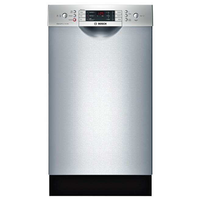 "Dishwasher with RackMatic® System - 18"" - Stainless Steel"