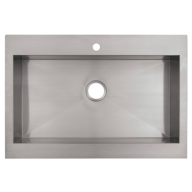 Vault Top Mount Apron Front Kitchen Sink   Stainless Steel Part 79