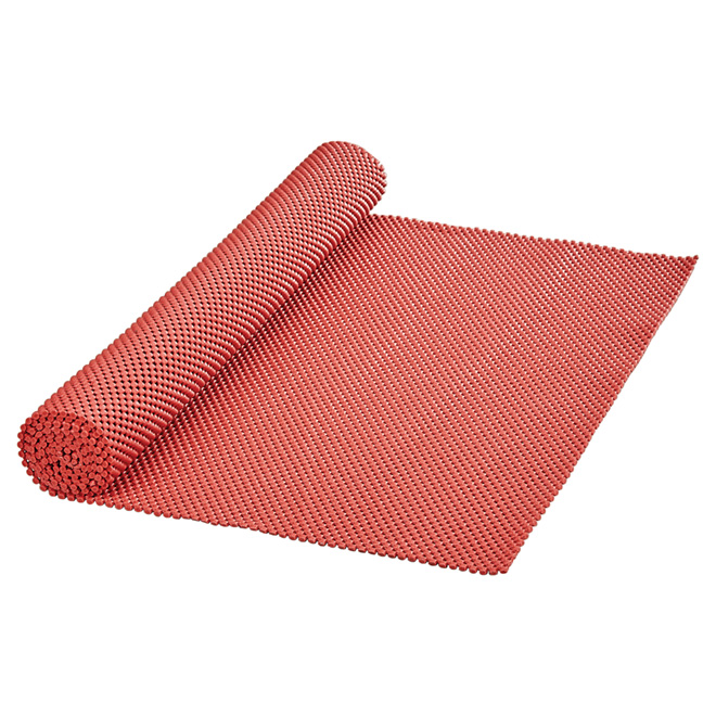"Non-Adhesive PVC Shelf Liner - 20"" x 4' - Red"