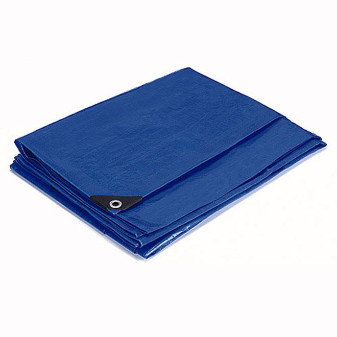 Polyethylene Tarpaulin, blue -  30 ft x 50 ft