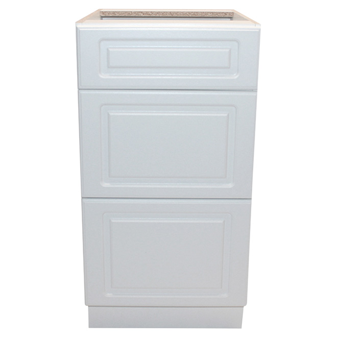 "Base Cabinet - Wilshire - 3 Drawers - 18"" - White"