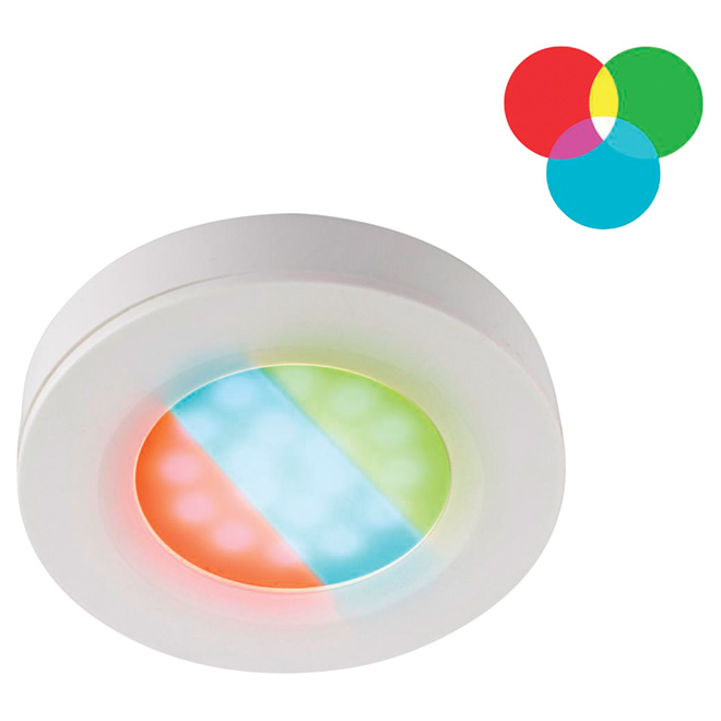Multi-Coloured Under-Cabinet LED Puck Light