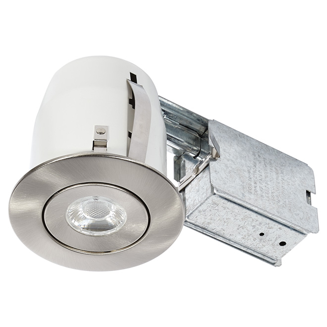 LED Recessed Light - 8 W - Brushed Steel
