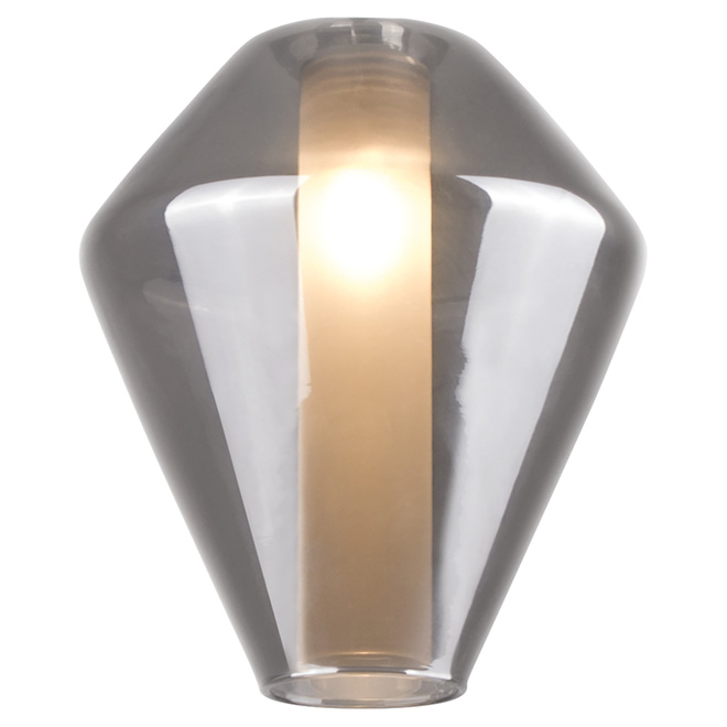 "Lubik Light Fixture Shade - 7"" - Smoke"