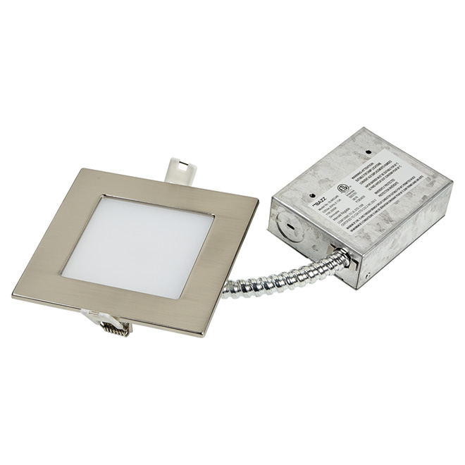 Dimmable Recessed Light - SLIM - 11W LED - Brushed Steel