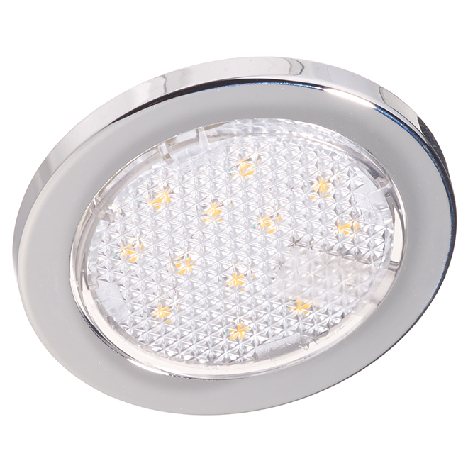 Undercabinet puck light 1 3w led chrome