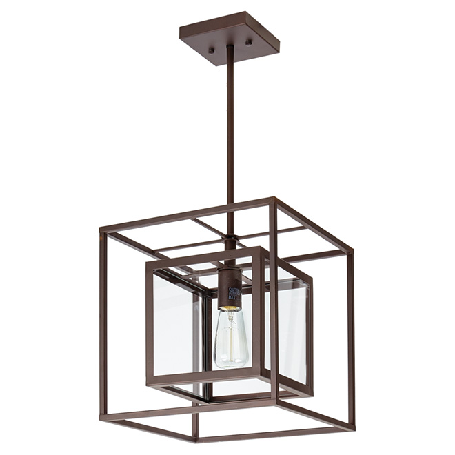 isola 1 light pendant light 12 x 12 oil rubbed bronze rona. Black Bedroom Furniture Sets. Home Design Ideas