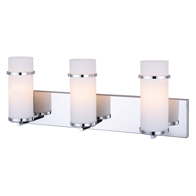 "Bathroom Vanity Lights Rona 3-light wall-mounted vanity light- 24""- chrome 