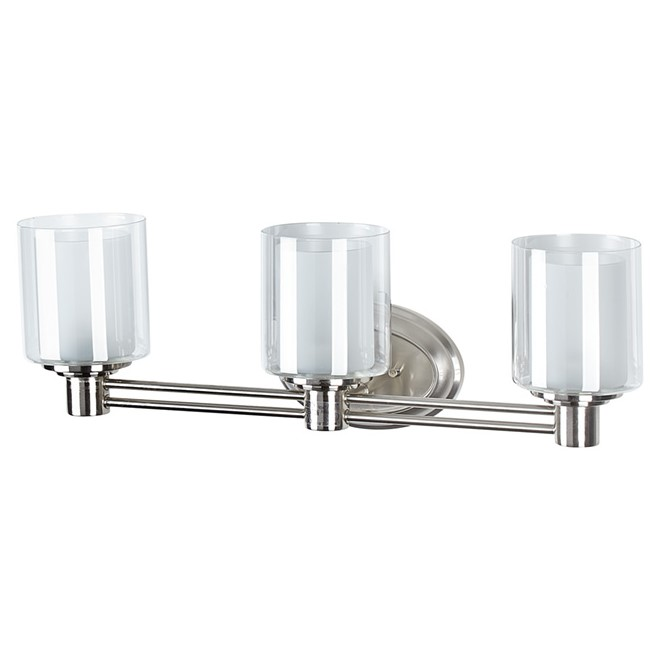 Bathroom Vanity Lights Rona perth 3-lights wallsconce - brushed nickel | rona