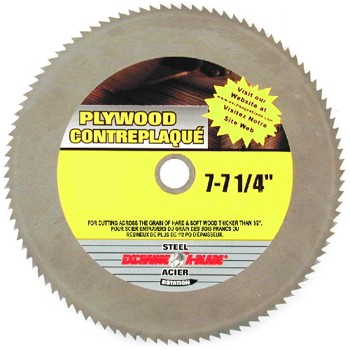Crosscut Circular Saw Steel Blade - 7 1/4""