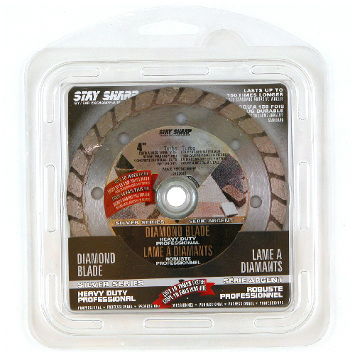 """Stay Sharp"" Turbo Circular Saw Diamond Blade - 4"""