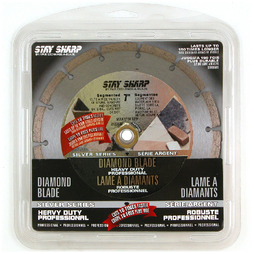 """Stay Sharp"" Segmented Diamond Blade - 7"""