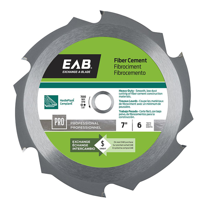 "Fibre Cement Carbide Blade - 7/14"" - 6TH"