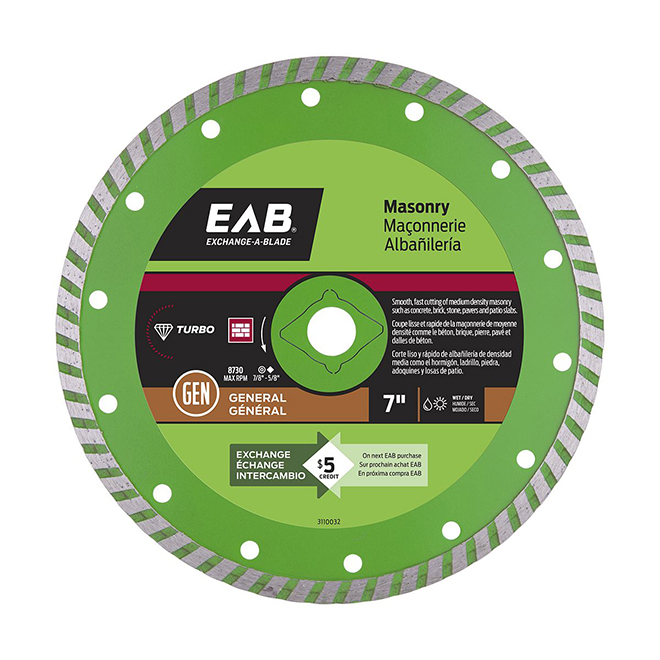 """Green Series"" Turbo Diamond Blade - 7"""