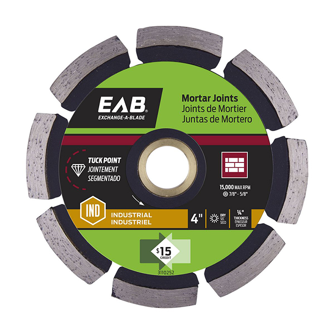 """Contractor Series"" Tuck Point Diamond Blade - 4"""